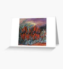 Sturt's Desert Pea Greeting Card