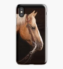 Palomino Quarter Horse at DSR Ranch iPhone Case