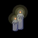 Spooky Pixel Candle by pooknero