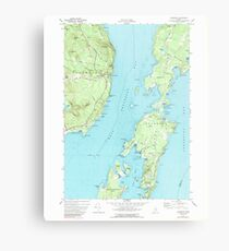 Maine USGS Historical Map Islesboro 105235 1973 24000 Metal Print