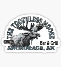 The Toothless Moose Bar Sticker