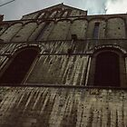 Back of St Pierre Cathedral Poitiers France 19840824 0016  by Fred Mitchell