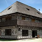 Traditional Painted House, Cicmany, Slovakia by Kasia-D