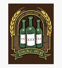 Sanchez Brew - Alcohol Parody   Photographic Print