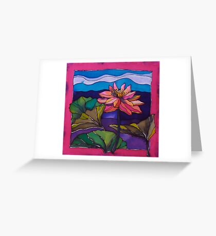 Lotus: Kakadu. Silk painting 2006 Ⓒ Greeting Card