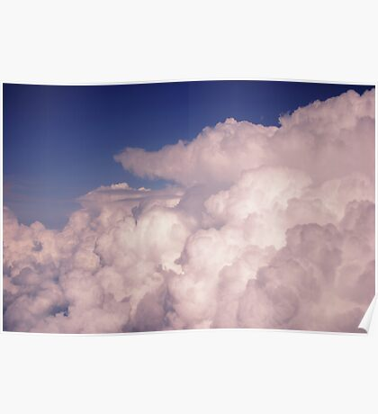Bubbling Storm Clouds Poster
