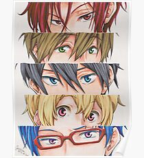 Free! Iwatobi swim club eyes Poster