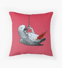 African Grey Parrot (Congo) Throw Pillow