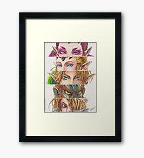 Zelda: Ocarina of Time eyes Framed Print