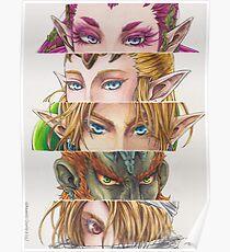 Zelda: Ocarina of Time eyes Poster