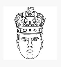 Kristaps Porzingis THE REAL KING OF NEW YORK Knicks minimalist design Photographic Print