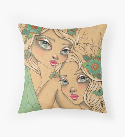 Beyond the vale Throw Pillow