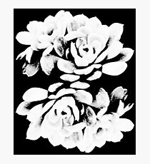 Black and White Flower Pattern 2 Photographic Print