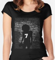Black Lives Matter: Why Kaepernick Takes a Knee Women's Fitted Scoop T-Shirt