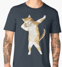 Dabbing Cat Kitten Funny Dab Tee Cool Dance Kitty  Men's Premium T-Shirt