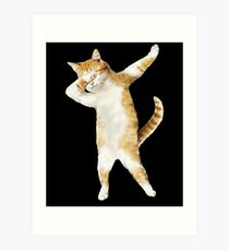 Dabbing Cat Kitten Funny Dab Tee Cool Dance Kitty  Art Print