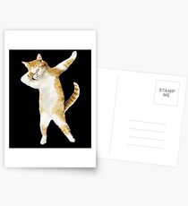 Dabbing Chat Chaton Drôle Dab Tee Cool Dance Kitty Cartes postales