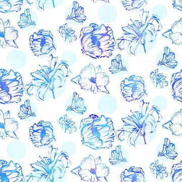 Flora Pop Blue by hayleylauren