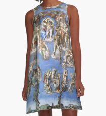"Michelangelo ""Last Judgment"" 1537-41 A-Line Dress"