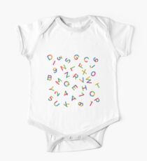 Alphabet pattern multi One Piece - Short Sleeve