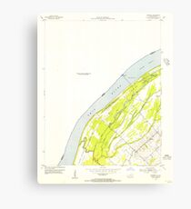 USGS TOPO Map Illinois IL Olmsted 308367 1954 24000 Canvas Print