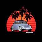 Beetle Bug Kaefer with Sunset and Palms by Frank Schuster