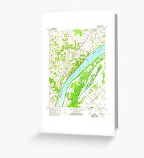 USGS TOPO Map Illinois IL Olmsted 308368 1967 24000 Greeting Card