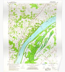 USGS TOPO Map Illinois IL Olmsted 308368 1967 24000 Poster