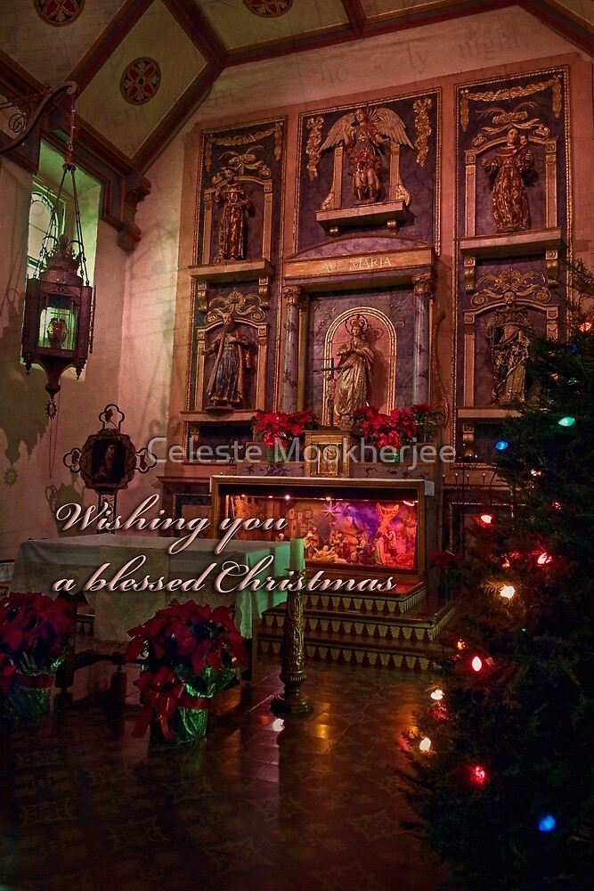 Silent night - Christmas card by Celeste Mookherjee