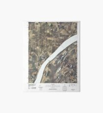 USGS TOPO Map Illinois IL Olmsted 20100329 TM Art Board