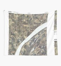USGS TOPO Map Illinois IL Olmsted 20100329 TM Wall Tapestry