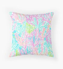 Coral Print Throw Pillow