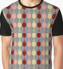 Red, Rosé, and Chardonnay Graphic T-Shirt