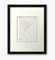 USGS TOPO Map Illinois IL Olmsted 20120808 TM Framed Print