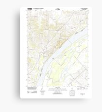 USGS TOPO Map Illinois IL Olmsted 20120808 TM Canvas Print
