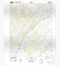 USGS TOPO Map Illinois IL Olmsted 20120808 TM Poster