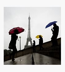 Paris In The Rain Photographic Print