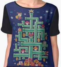 It's a tree, Mario! Women's Chiffon Top