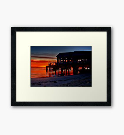 """Daybreak at Barwon Heads"" Framed Print"