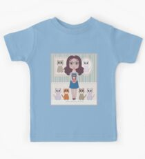 WOMAN WITH PURRFECT BLOOD PRESSURE Kids Tee