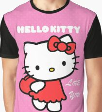 Hello Kitty love you Graphic T-Shirt
