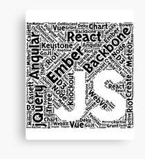 Original Black JavaScript Framework Programming Design Canvas Print