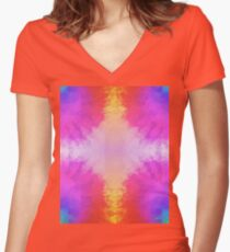 Tie-Dye 2 Women's Fitted V-Neck T-Shirt