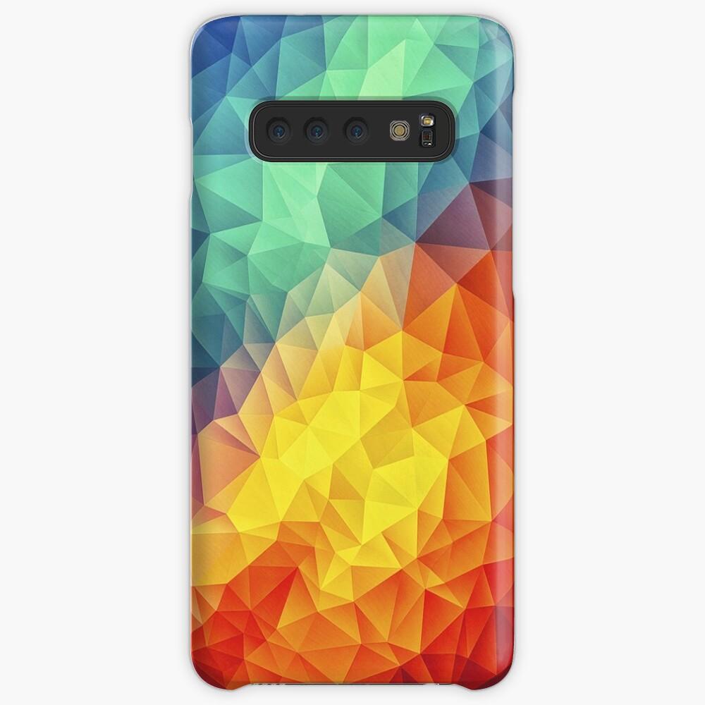 Abstract Multi Color Cubizm Painting Hüllen & Klebefolien für Samsung Galaxy