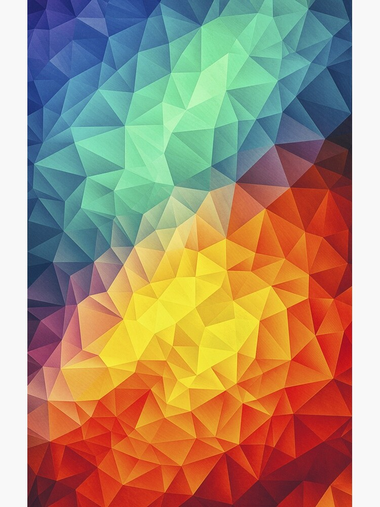 Abstract Multi Color Cubizm Painting von badbugs