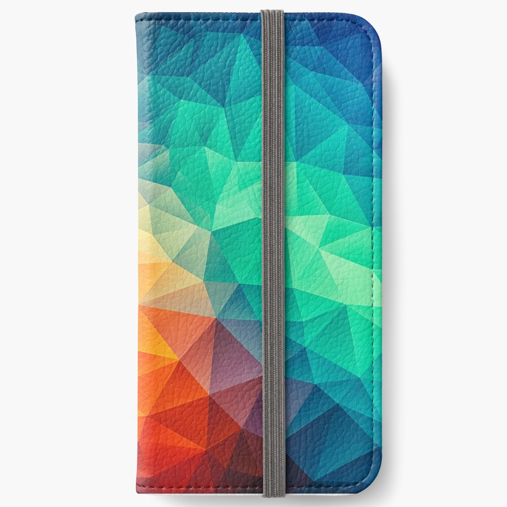 Abstract Multi Color Cubizm Painting iPhone Flip-Case