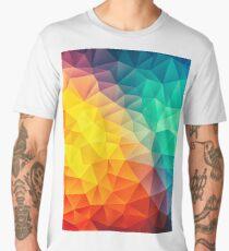 Abstract Multi Color Cubizm Painting Men's Premium T-Shirt