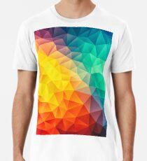 Abstract Multi Color Cubizm Painting Männer Premium T-Shirts
