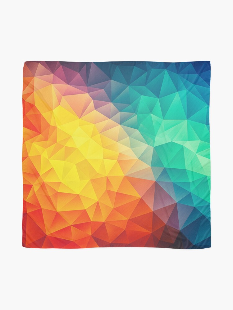 Alternate view of Abstract Multi Color Cubizm Painting Scarf