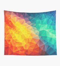 Abstract Multi Color Cubizm Painting Wall Tapestry